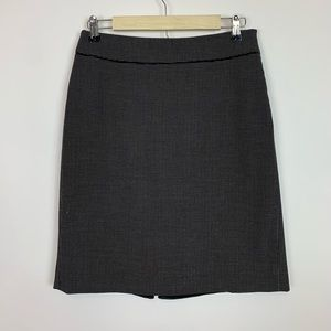 Whbm pencil skirt black and white peplum back  8